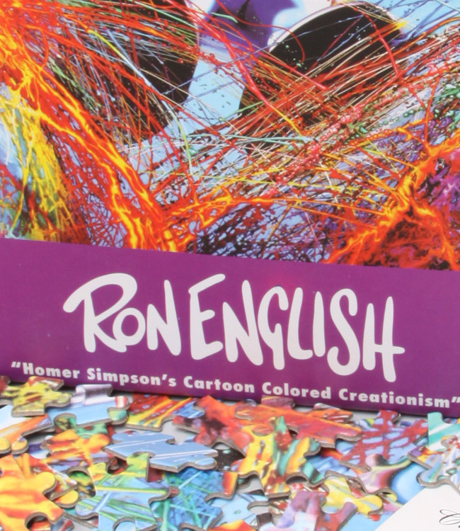 HOMER SIMPSON/'S CARTOON COLORED CREATIONISM POSTER RON ENGLISH