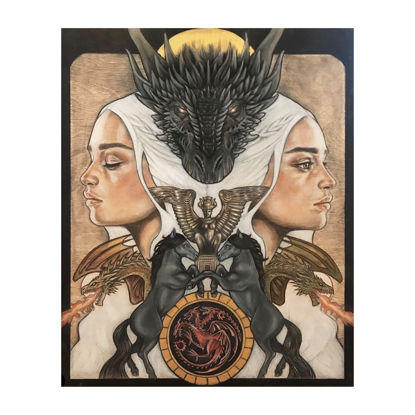 Wendy Ortiz Art - Game Of Thrones - Series Finale Limited Edition Print