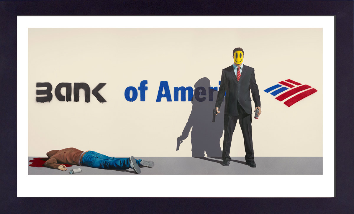 Ryan McCann Art Print - Death to Banksy