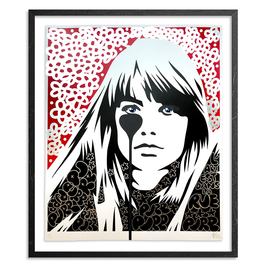 Pure Evil Art Print - 01 Hand-Finished Variant - Françoise Hardy - Jacques Dutronc's Nightmare - Red & Black Edition