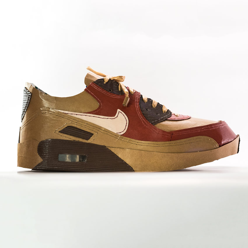 Smoluk Original Art - Air Max 90 - Bacon - Original Artwork