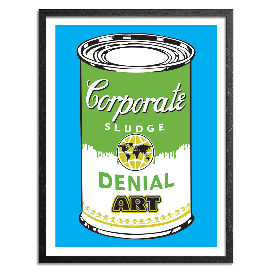 Denial Art Print - Corporate Sludge - Blue Edition