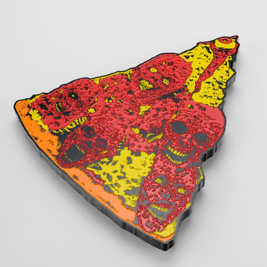 French Art Print - Oversized Enamel Pizza Slice - Variant I