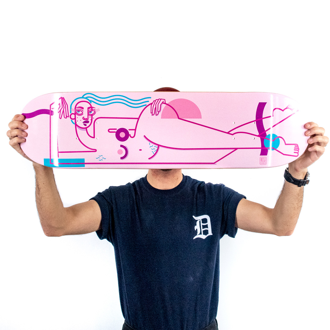Jillian Evelyn Art Print - I Don't Have A Name - Skate Deck Variant - Standard Edition