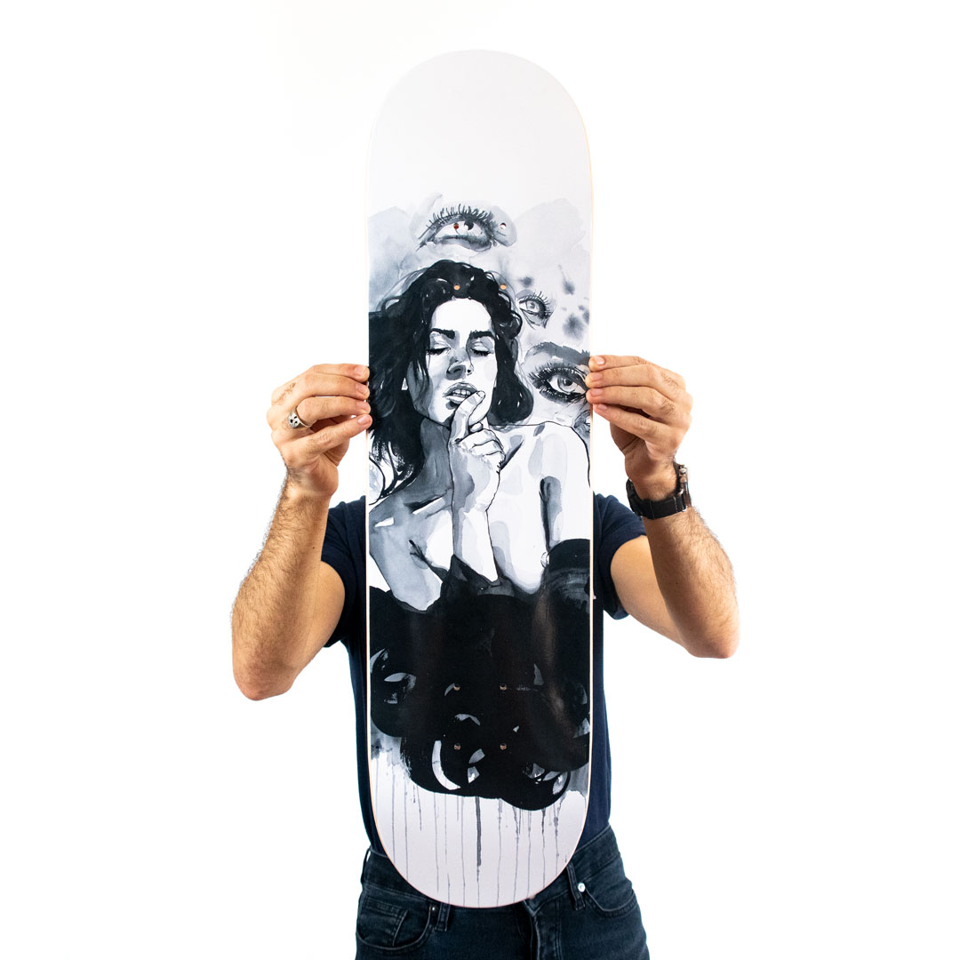 Brandon Boyd Art Print - Give Me A Minute - Skate Deck Variant