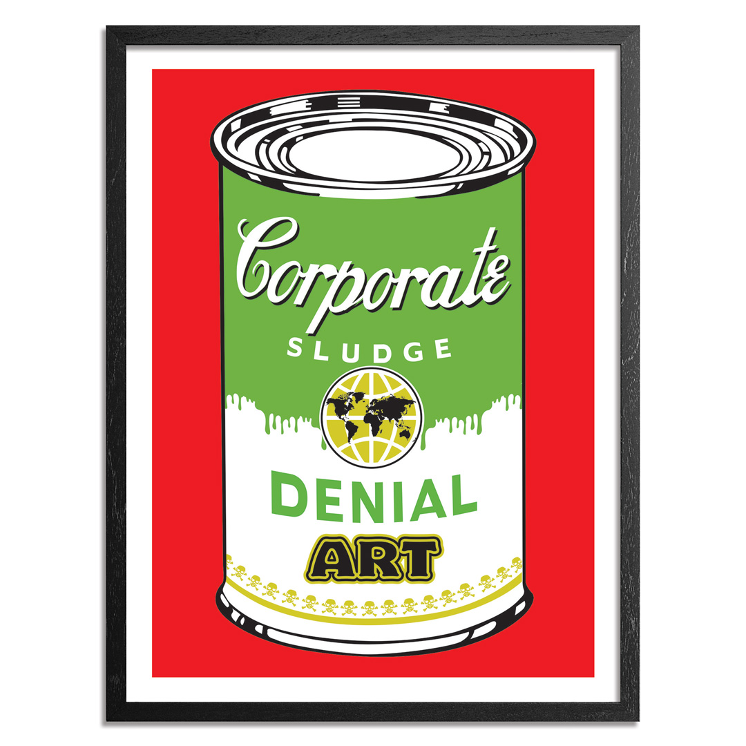 Denial Art Print - Corporate Sludge - Red Edition