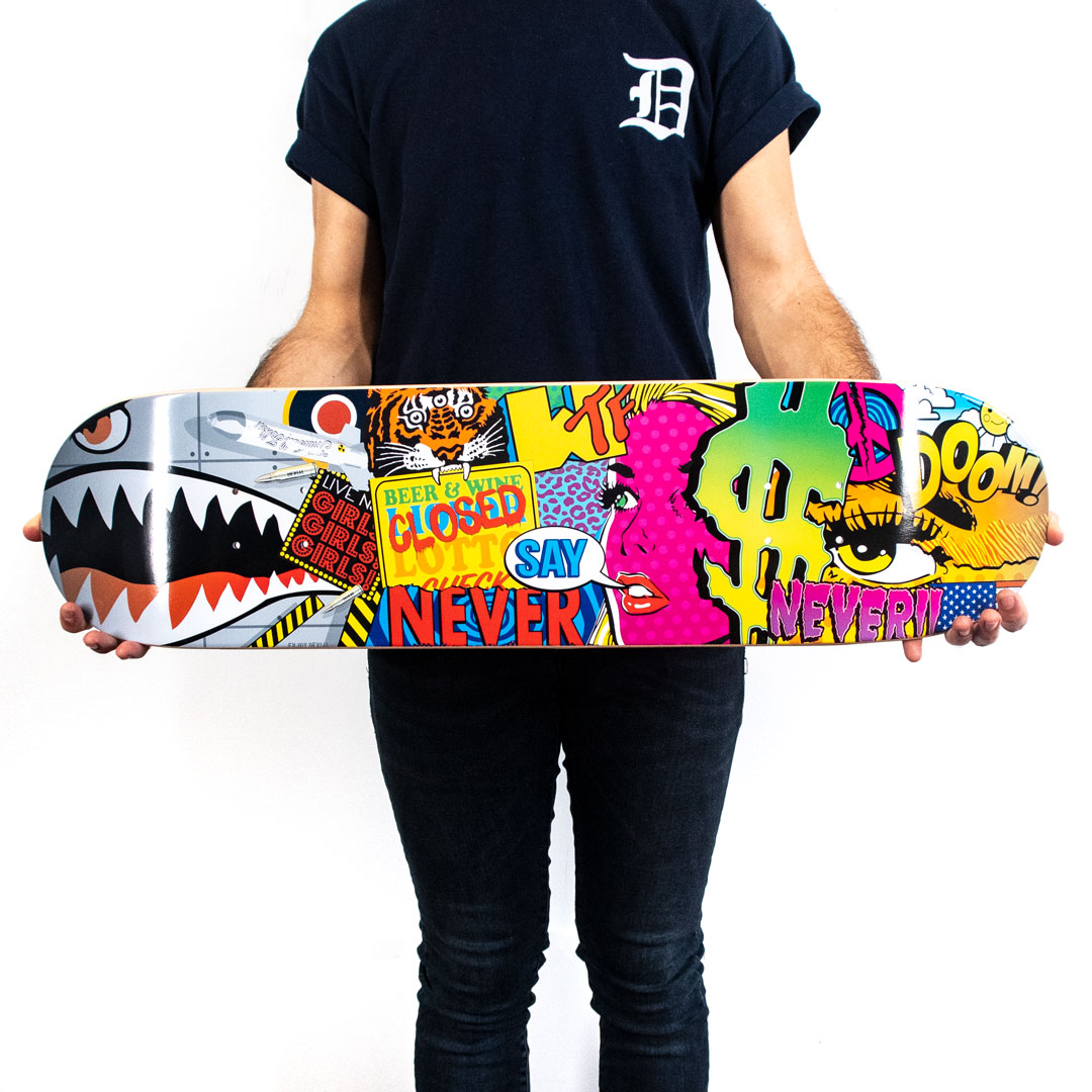 Denial Art Print - Never Say Never - Skate Deck Variant