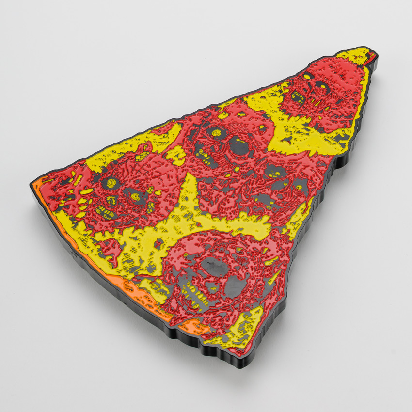 French Original Art - Oversized Enamel Pizza Slice - Variant II