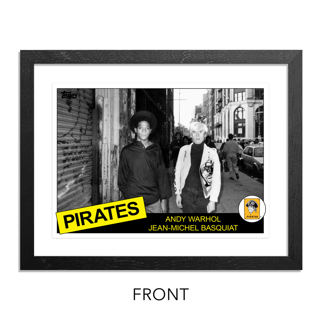 Ricky Powell Art Print - Andy Warhol & Jean-Michel Basquiat - SoHo. NYC. 1985 - Grand Slam Edition - Pirates Variant