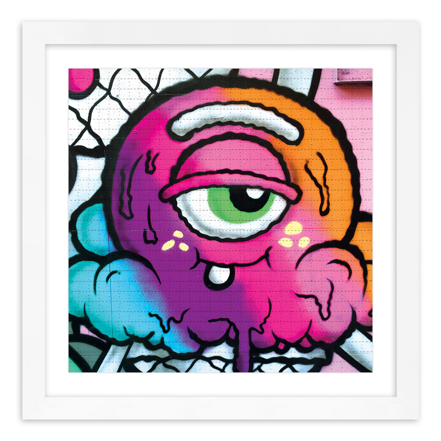 Buff Monster Art Print - Melty Spray - Blotter Edition