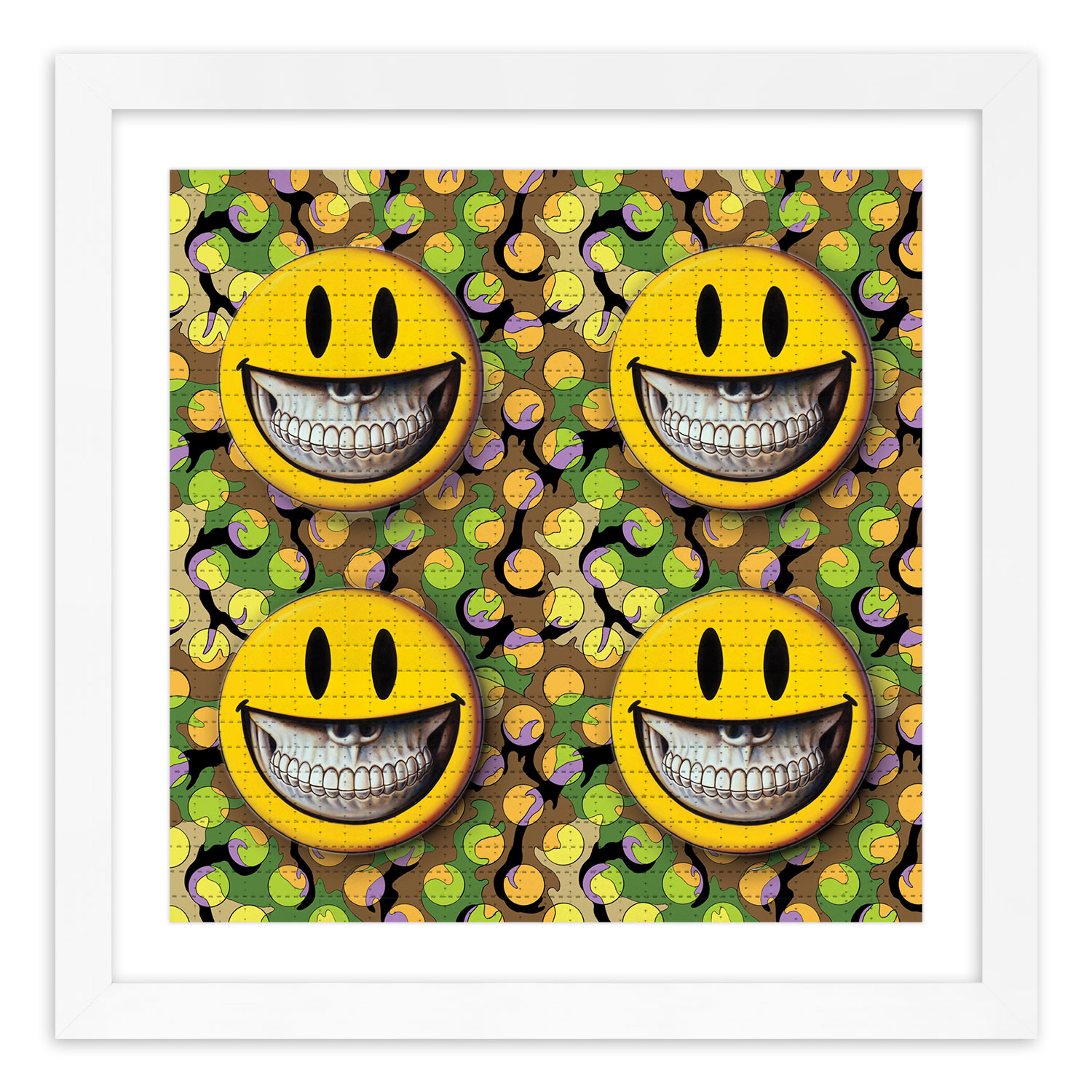 Ron English Art Print - Grin - Blotter Edition