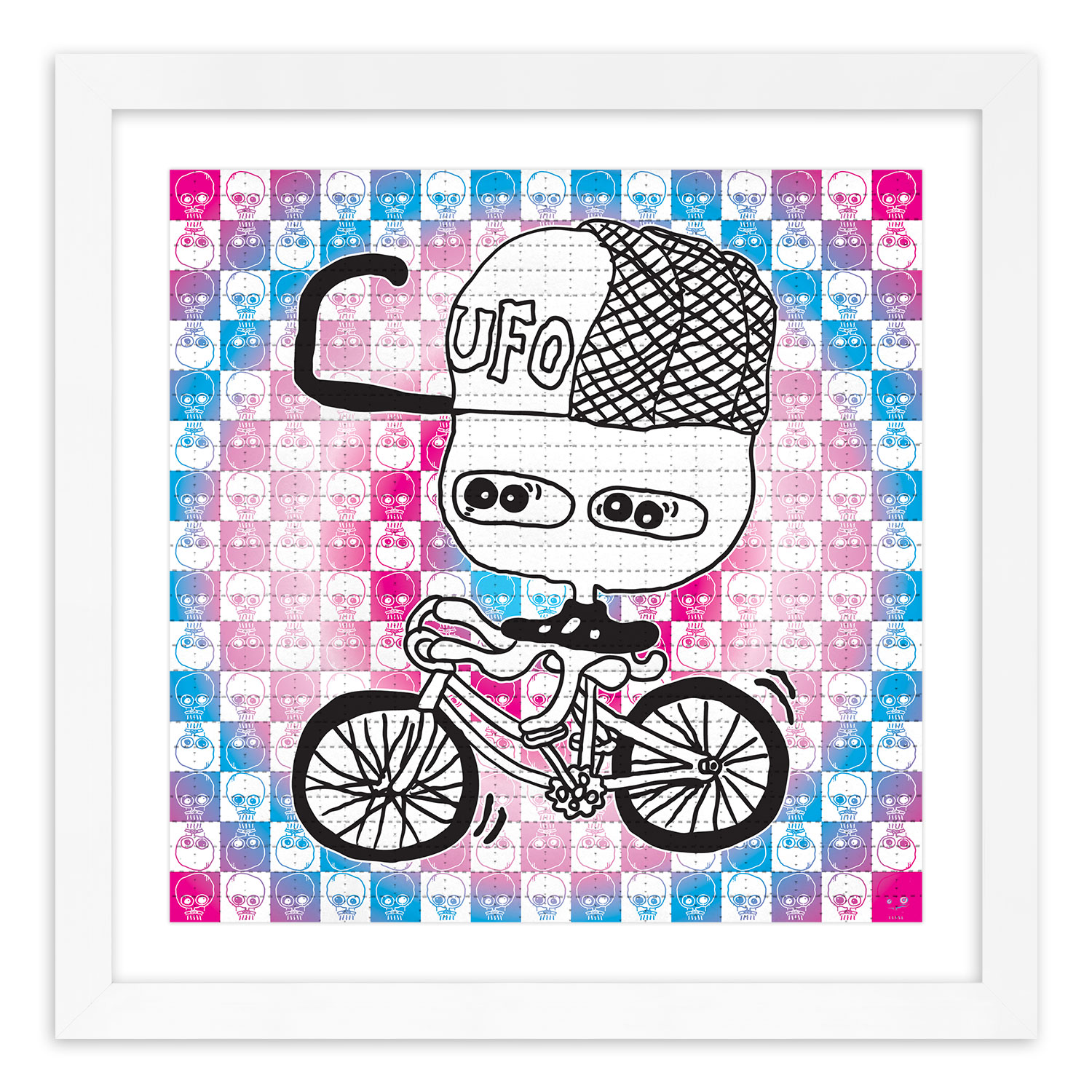 UFO 907 Art Print - Bicycle - Blotter Edition
