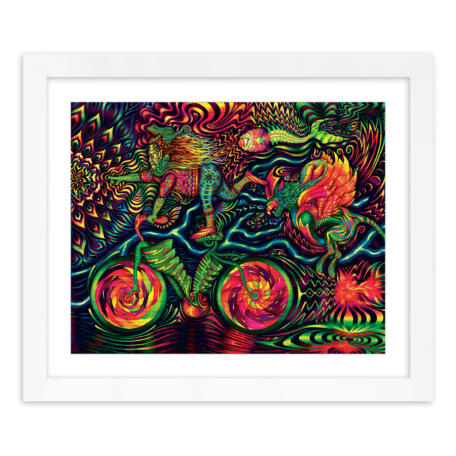 Vedran Misic Art Print - Bicycle Ride - Blotter Variant