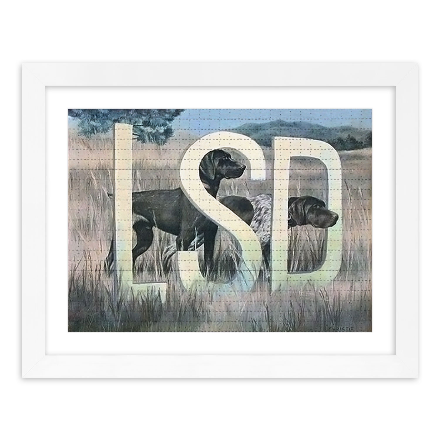 Wayne White Art Print - LSD Dog - Blotter Edition