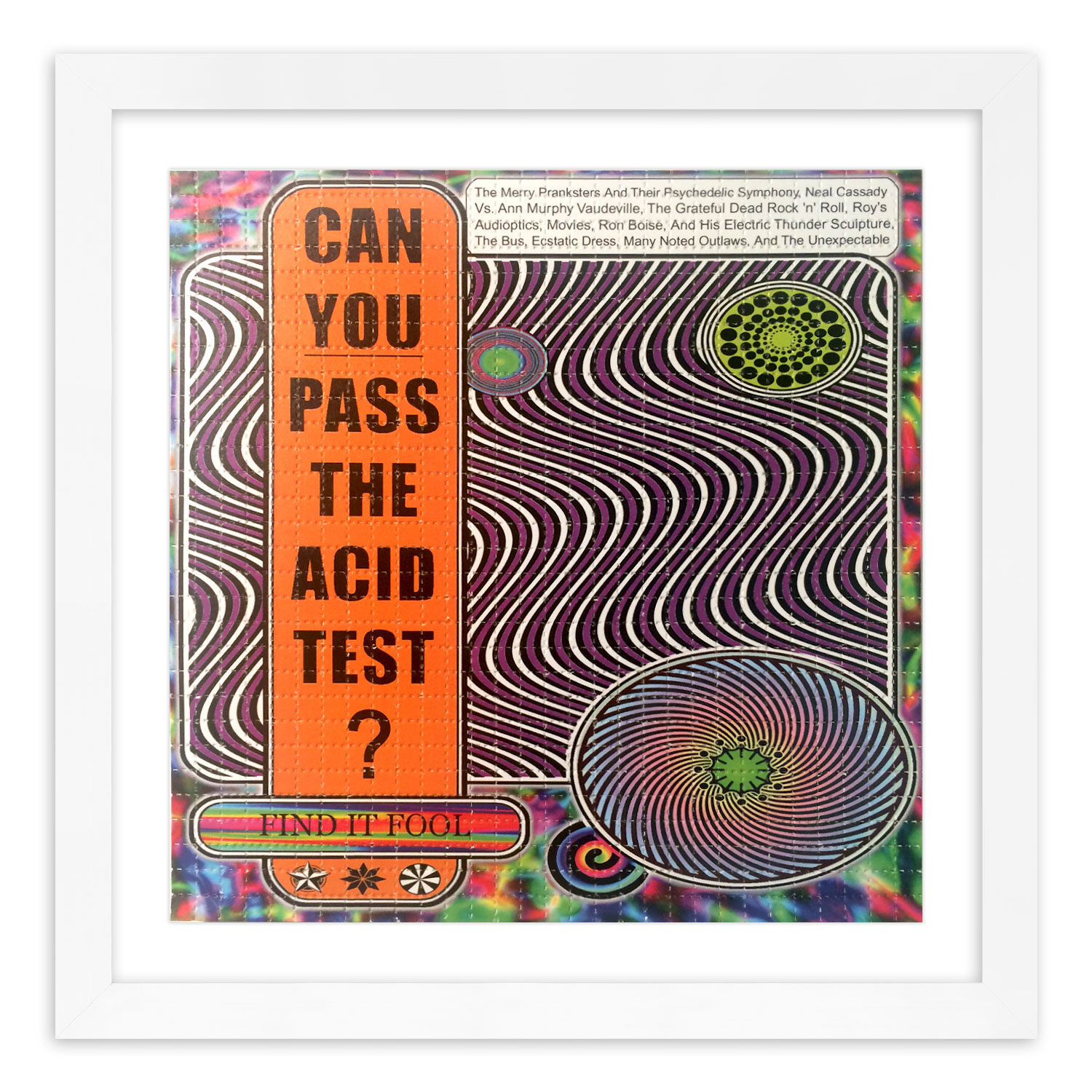 Zane Kesey Art Print - Acid Test Flier - Blotter Edition