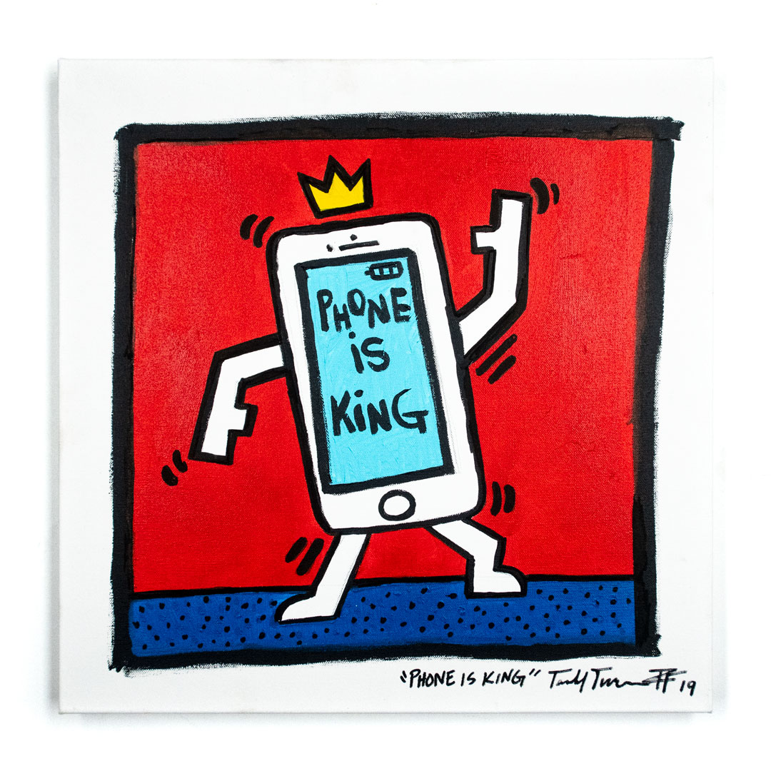 Sheefy Original Art - Phone Is King
