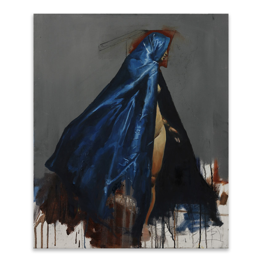 Adam Caldwell Original Art - Blue Cape - Original Artwork