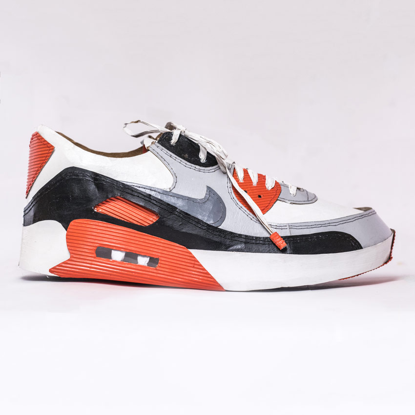 Smoluk Original Art - Air Max 90 - Classic Infrared - Original Artwork