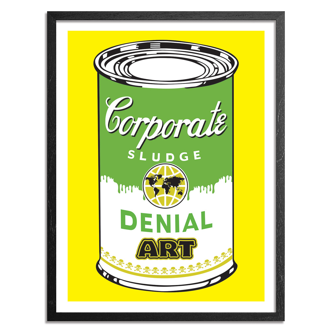 Denial Art Print - Corporate Sludge - Yellow Edition