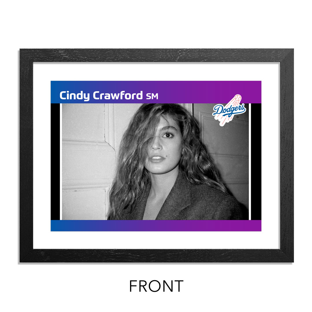 Ricky Powell Art Print - Cindy Crawford - The Supermodel - Grand Slam Edition - Dodgers Variant