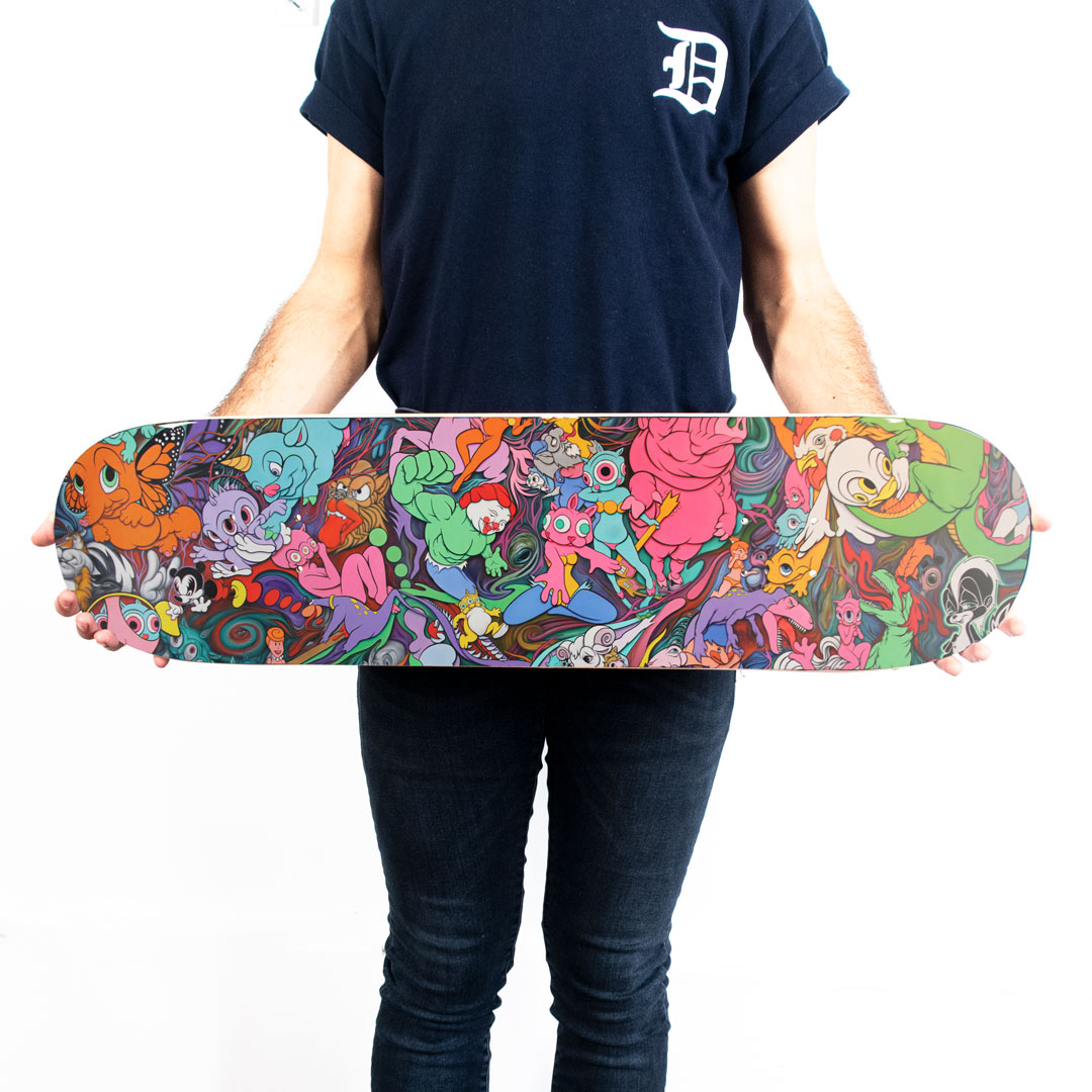 Ron English Art Print - Delusionville Manifesto - Skate Deck Variant