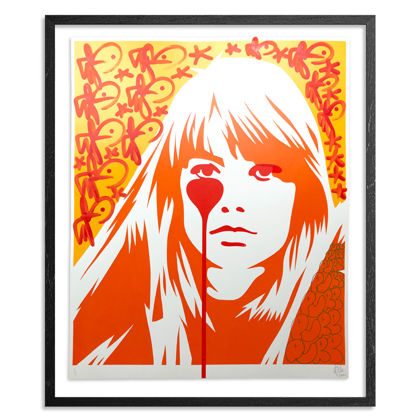 Pure Evil Art Print - 04 Hand-Finished Variant - Françoise Hardy - Jacques Dutronc's Nightmare - Endless Summer Edition