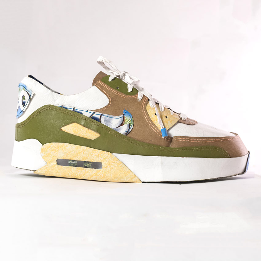 Smoluk Original Art - Air Max 90 - Coconut - Original Artwork