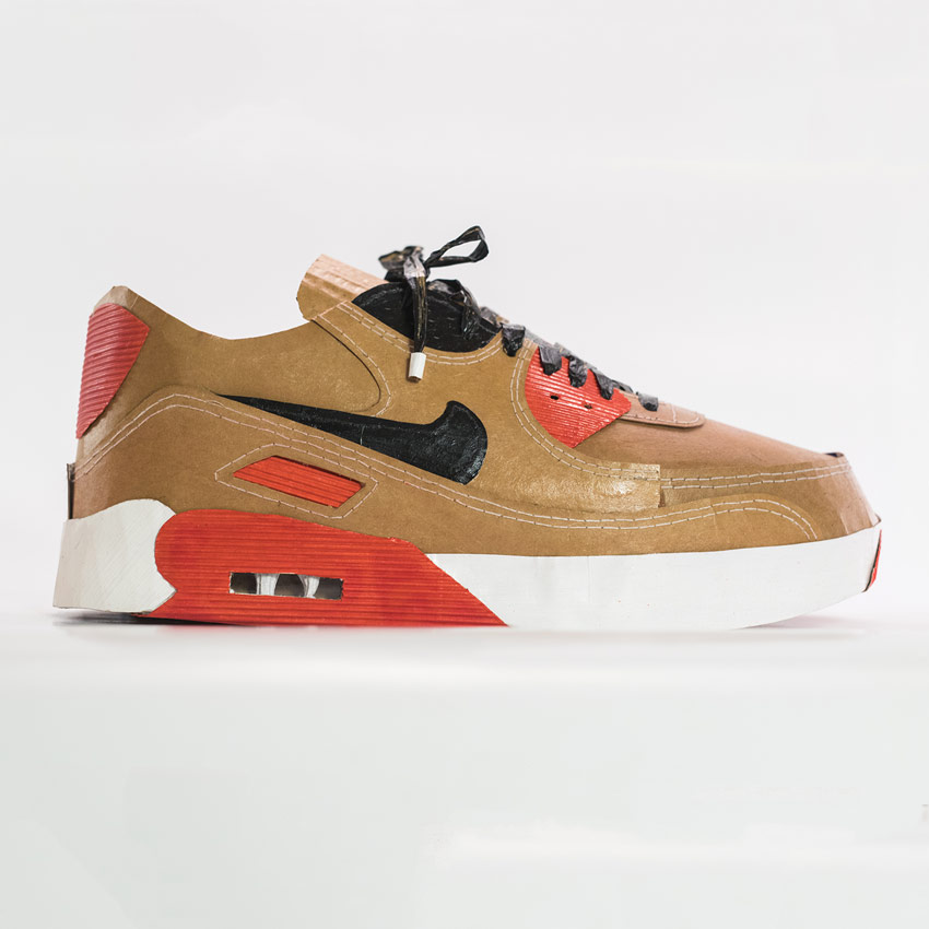Smoluk Original Art - Air Max 90 - Cork - Original Artwork