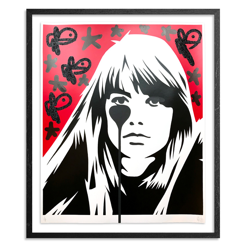 Pure Evil Art Print - 06 Hand-Finished Variant - Françoise Hardy - Jacques Dutronc's Nightmare - Red & Black Edition