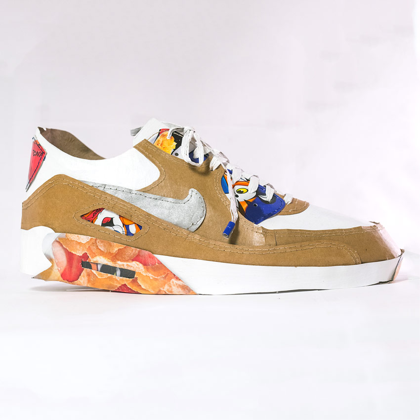 Smoluk Art - Air Max 90 - Curry Flakes - Original Artwork