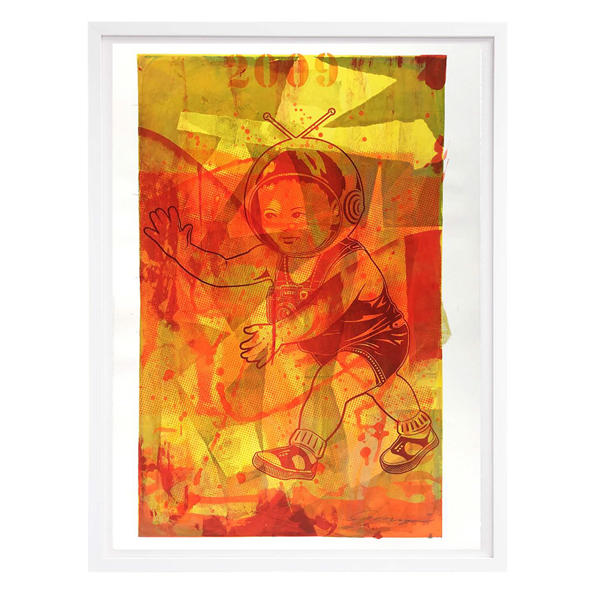 ASVP Art Print - Space Baby - Yellow & Red Edition