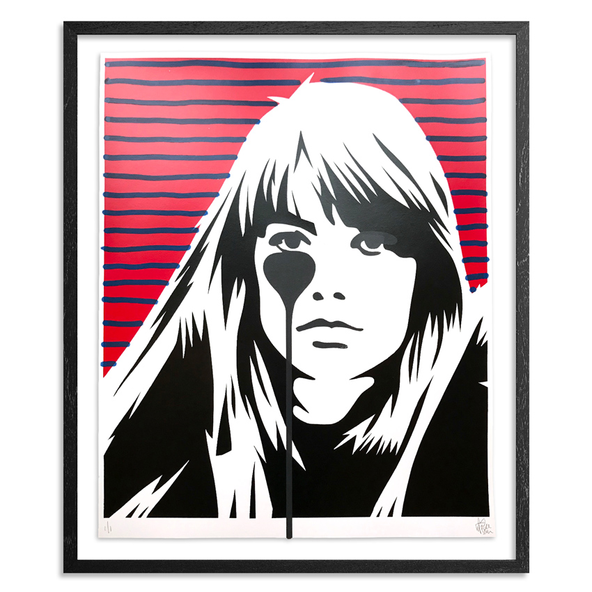 Pure Evil Art Print - 08 Hand-Finished Variant - Françoise Hardy - Jacques Dutronc's Nightmare - Red & Black Edition