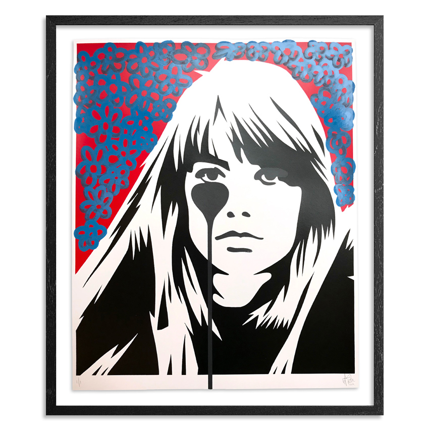 Pure Evil Art Print - 09 Hand-Finished Variant - Françoise Hardy - Jacques Dutronc's Nightmare - Red & Black Edition
