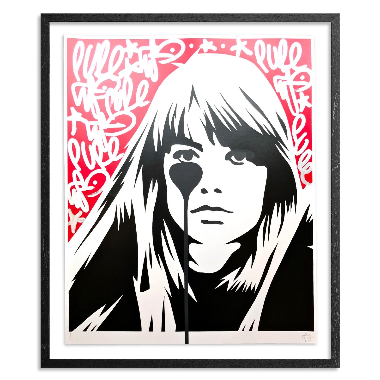 Pure Evil Art - 10 Hand-Finished Variant - Françoise Hardy - Jacques Dutronc's Nightmare - Red & Black Edition