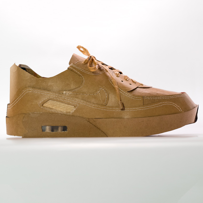 Smoluk Original Art - Air Max 90 - Naked - Original Artwork