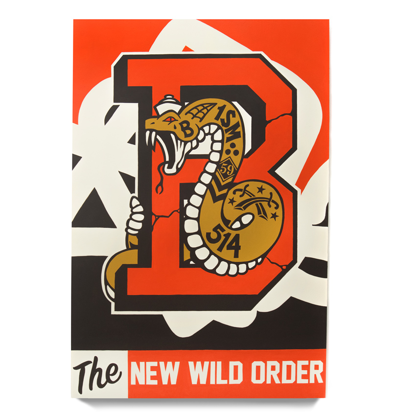 123Klan Original Art - New Wild Order, Snake - Original Artwork