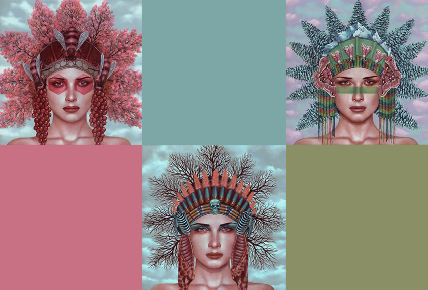 Casey Weldon Art Print - Headdresses - 3 Print Set