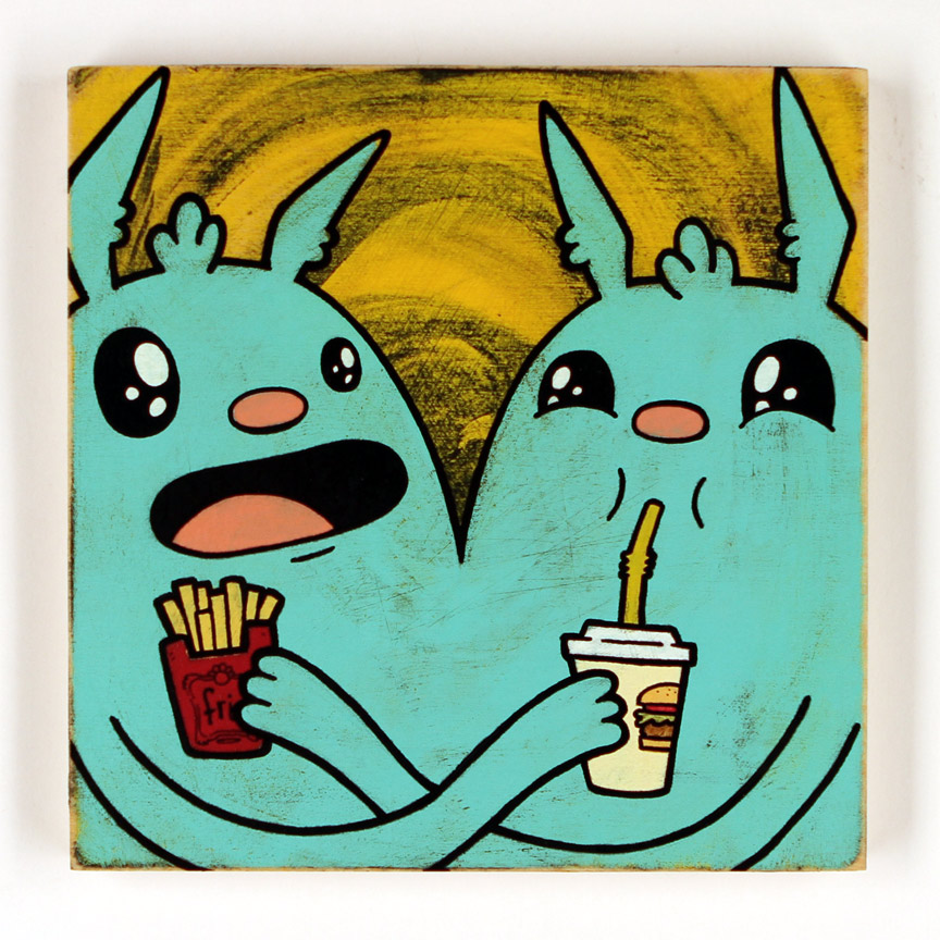 Kill Taupe Original Art - Fries & Soda