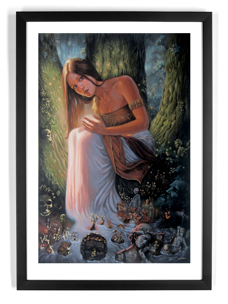 Mia Araujo Art Print - Forest Healer - Hand-Embellished Edition
