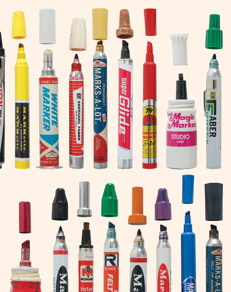 Roger Gastman Art Print - Tools of Criminal Mischief - The Markers ...