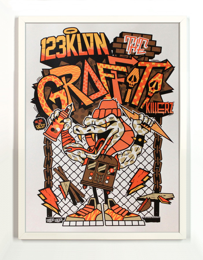 123Klan Art Print - The Graffiti Killers - Framed