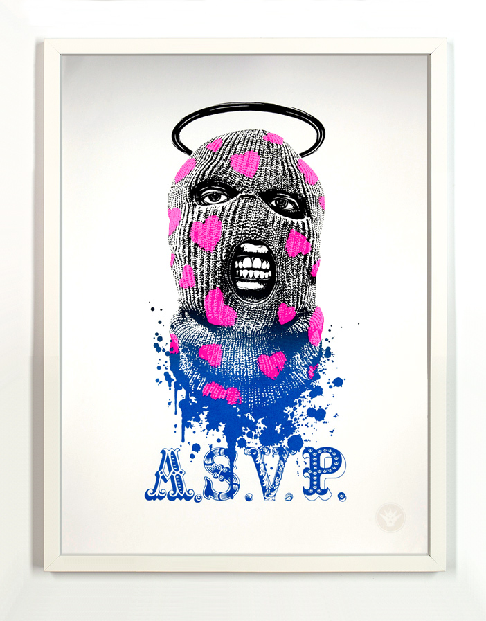 ASVP Art Print - Balaclava - Pink/Metallic Black To Blue Fade Edition