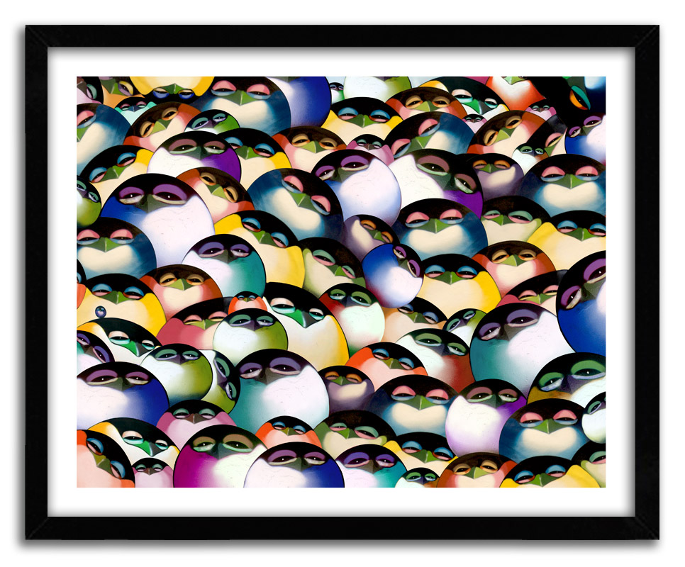 Chor Boogie Art Print - A Flock Of Boogie - Hand-Embellished Prints