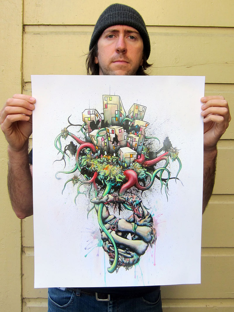 Daryll Peirce Art Print - Hand-Embellished Prints - Or The Bad News First