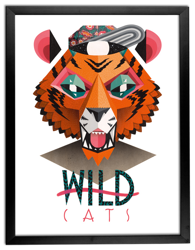 Low Bros Art Print - Tiger