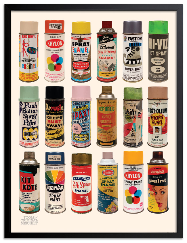 Roger Gastman Art Print - Tools of Criminal Mischief : The Cans I