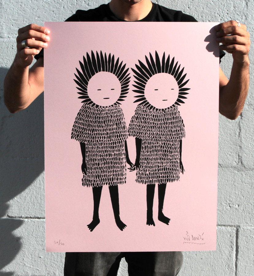 Kid Acne Art Print - Twins - Pink Edition
