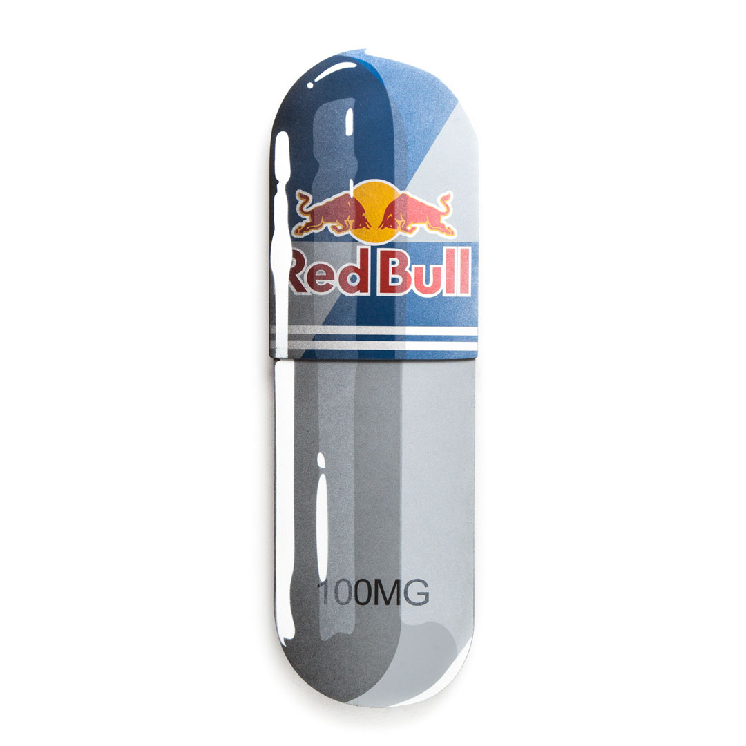 Denial Original Art - Overdose - Red Bull - 10 x 32 Inch Pill