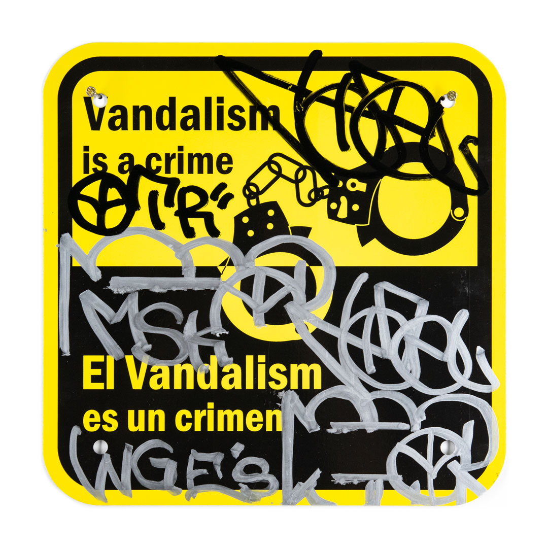 Hael Original Art - Vandalism Is A Crime - II - 12 x 12 Inches