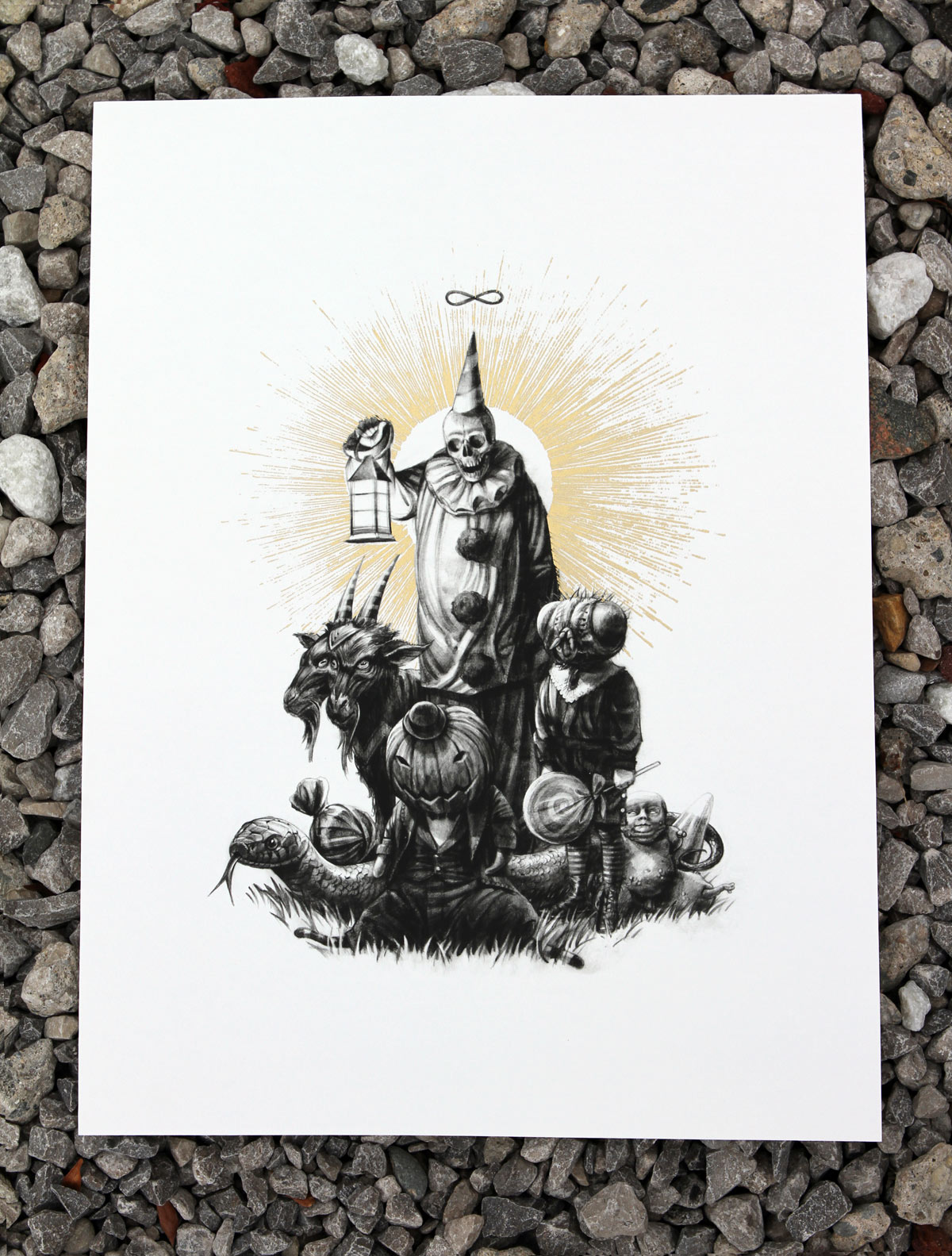John Dunivant Art Print - The Clown